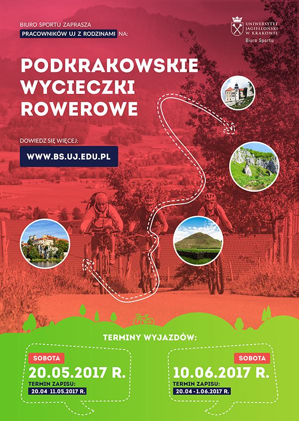 Plakat wycieczki rowerowe