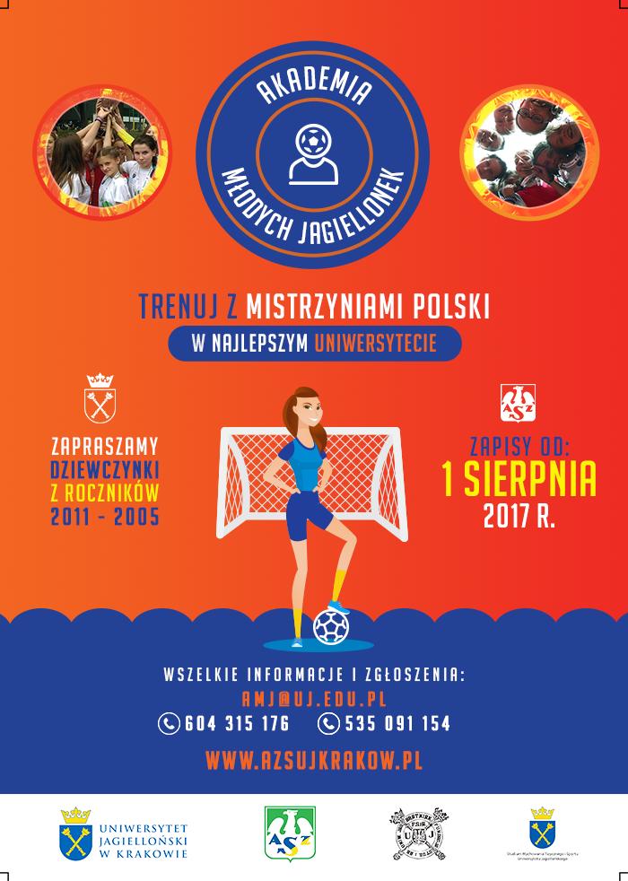 Plakat Akademii Młodych Jagiellonek