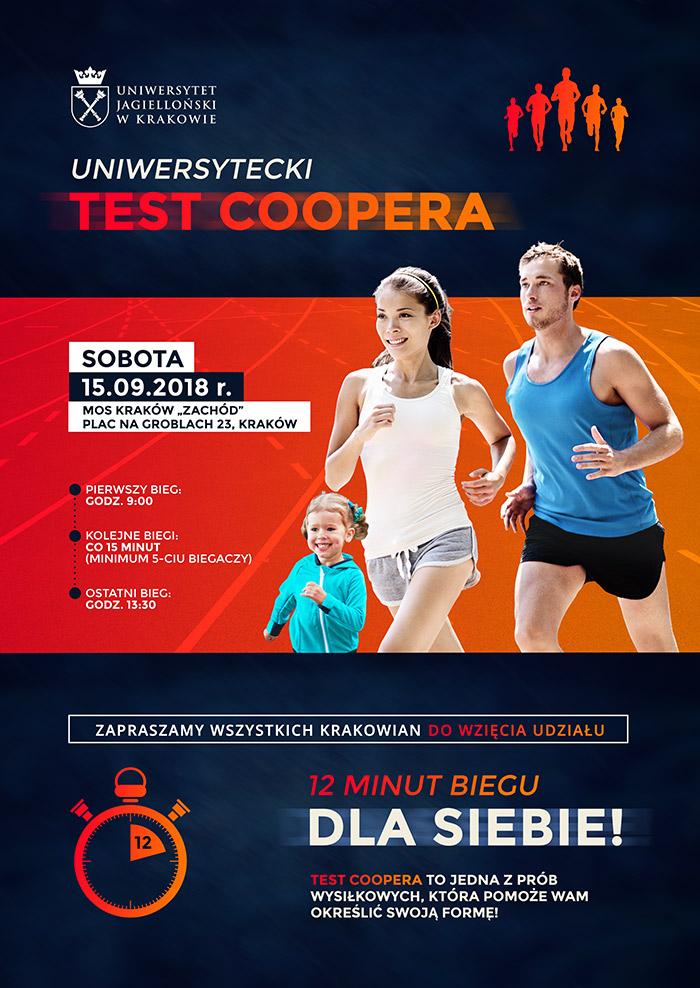 Plakat Uniwersyteckiego Testu Coopera