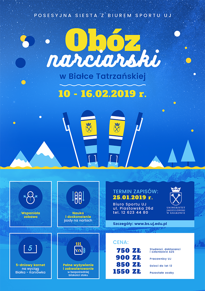Plakat obozu narciarskiego