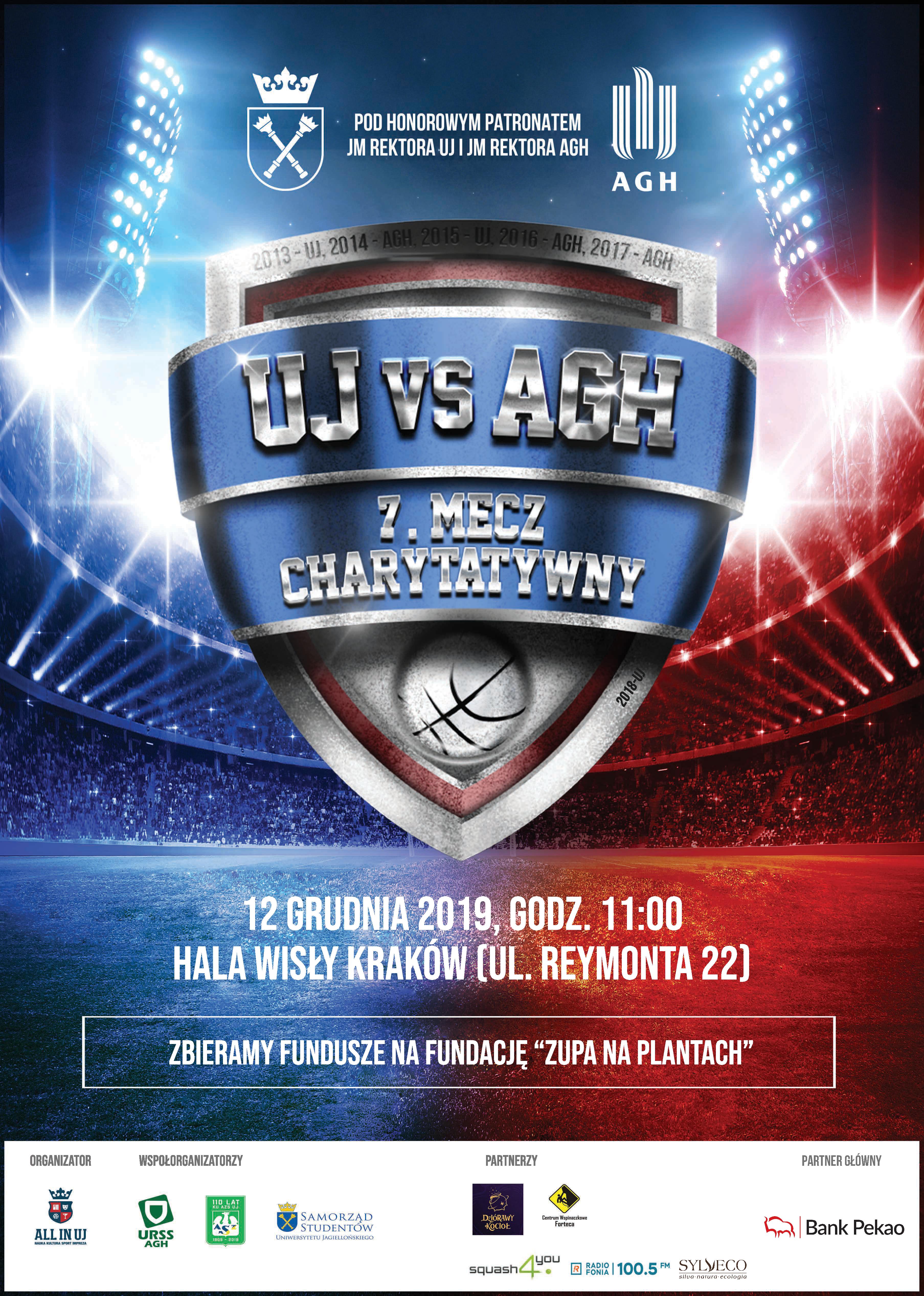 Plakat Charytatywny mecz AZS UJ s AZS AGH