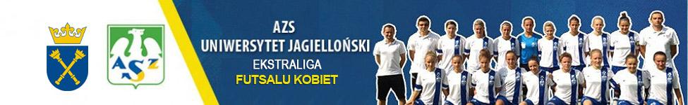 Baner reklamujący rozgrywki w piłce nożnej kobiet PZPN - I Liga