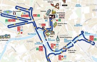 Trasa XIV Cracovia Maraton